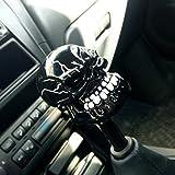 COGEEK Universal Manual Operation Car Gear Shift Knob Shifter Lever Resin Skull (black skull)