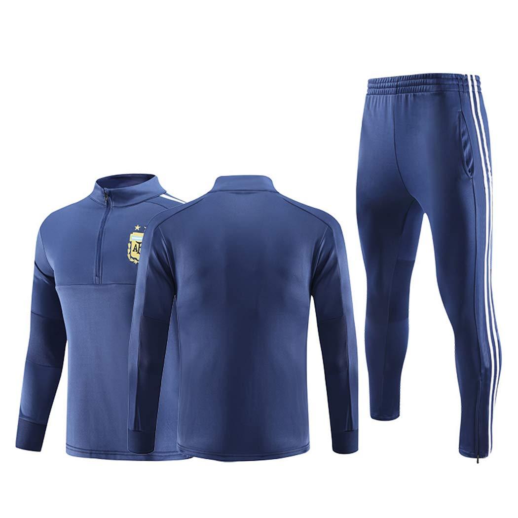 ZYH 2018-19 Frankreich Team Trikot Team Herbst und Winter Fußball Trainingsanzug langärmeligen Anzug Anzug benutzerdefinierte Fußballbekleidung Anzug männlich