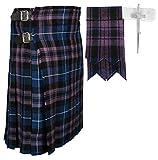 Scottish Pride Of Scottland Tartan Kilt FREE Flashes & Kilt Pin (Belly Button 40)