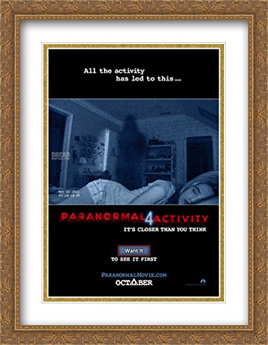 Paranormal Activity 4 28x36 Double Matted Large Large Gold Ornate Framed Movie Poster Art Print by ArtDirect