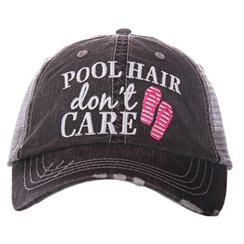 Pool Hair Don't Care Women's Trucker Hat Cap by Katydid (Pool Women)