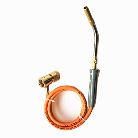 Professional MAPP Gas Torch Brazing Torch of MAPP/Propane Gas 1 5m Hose for  Brazing Soldering Welding Heating Application can also be used for BBQ