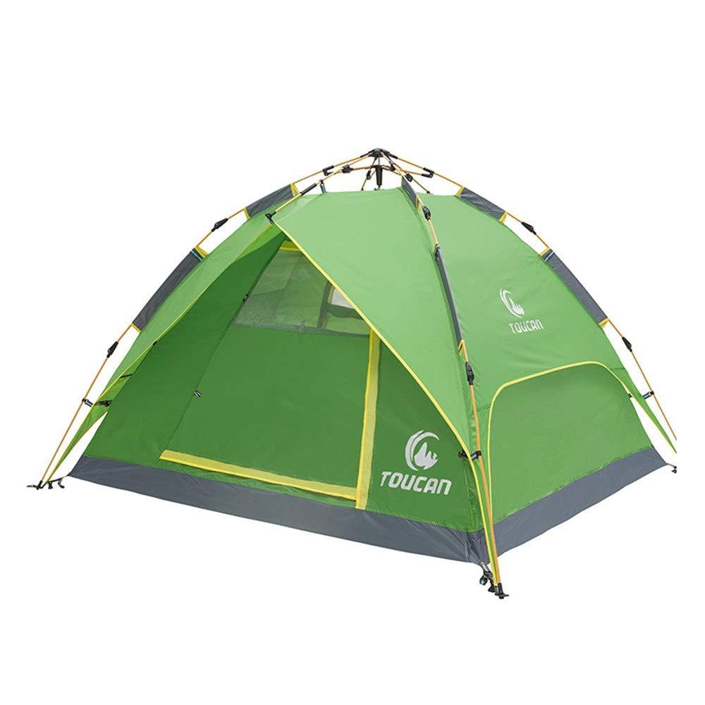 Hksfnsj Automatisches hydraulisches Zelt für den Außenbereich Tragbares DREI-in-Eins-Doppelzelt (Farbe   Grün, Größe   230cm200cm130cm)