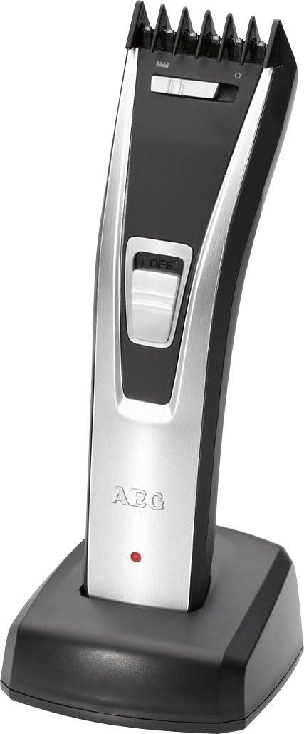AEG HSM/R 5614 - Cortapelos con batería recargable, funciona con o sin cable, ajuste de 3-23 mm, color negro
