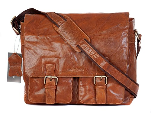 Wood Bridge, Borsa a tracolla donna Marrone Cognac