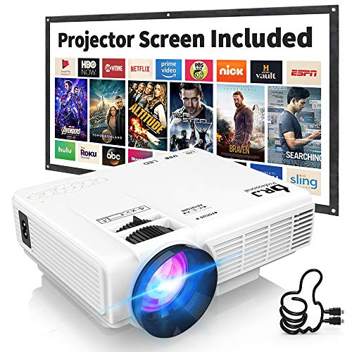 DR. J Professional HI-04 1080P Supported 4Inch Mini Projector with 170