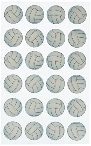 Volleyball Scrapbooking - Darice Stickerz, 24 Piece, Volleyball Stickers