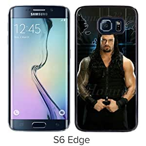 Fashionable And Unique Designed Case For Samsung Galaxy S6 Edge Phone Case With Wwe Superstars Collection Wwe 2k15 Roman Reigns 14 Black