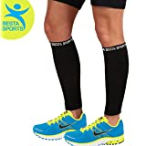Compression Calf Sleeves - Preferred Leg Compression Socks For Men & Women - Best Protector For Shin Splint & Cramps - Recover Faster From Tired Legs - 1 Pair (Medium 12-15 Inches)