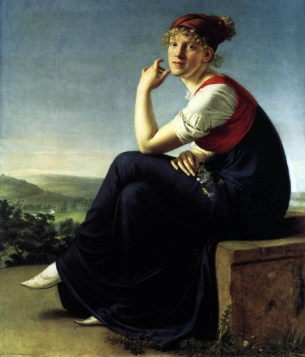 Christian Gottlieb Schick Heinrike Dannecker - 24'' x 30'' 100% Hand Painted Oil Painting Reproduction by Art Oyster