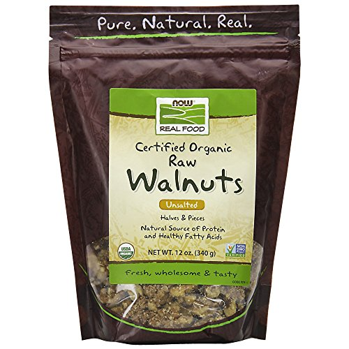 NOW Foods Walnuts Raw Organic, 12-Ounce ()