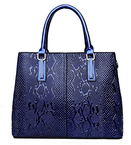 Pinchu Blue Handbag Dating Bag Elegant Leather Soft Red Luxury Shopping Women Designer Office Tote Office 66xrF