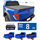 Tyger Auto TG-BC1D9015 TOPRO Roll Up Truck Bed Tonneau Cover 2002-2018 Dodge Ram 1500; 2003-2018 Dodge Ram 2500 3500 | Fleetside 8' Bed | For models without Ram Box