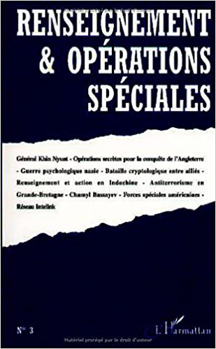En ligne Renseignement et opérations spéciales numéro 3 pdf, epub