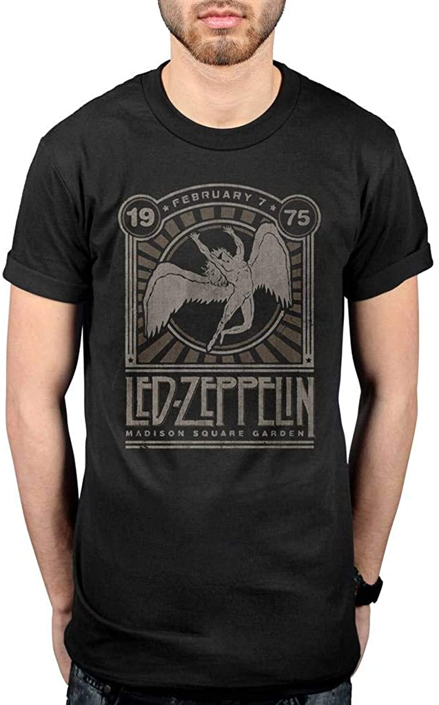 Led Zeppelin Madison Square Gardens Rock Licensed Tee T-Shirt Men