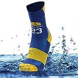 SuMade Unisex Waterproof Wader Socks, Outdoor Athletic 100% Water Resistant Moisture Wicking Comfortable Rowing Kayaking Socks 1 Pair (Blue, Medium)