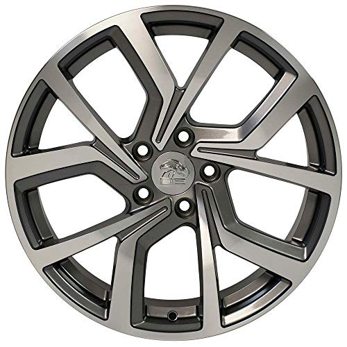 - Partsynergy Replacement For Aluminum Alloy Wheel Rim 18 Inch Fits 2006-2017 VW GTI Gunmetal Machined 18x8 5x112mm
