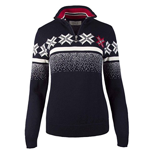 Dale of Norway Olympic Passion Sweater, Navy/Raspberry/Off White, Medium