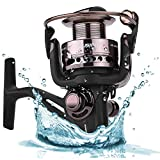 PLUSINNO Fishing Reel Spinning Fishing Reels Freshwater Saltwater Left/Right Interchangeable Collapsible Handle Spin Fishing Reel Review