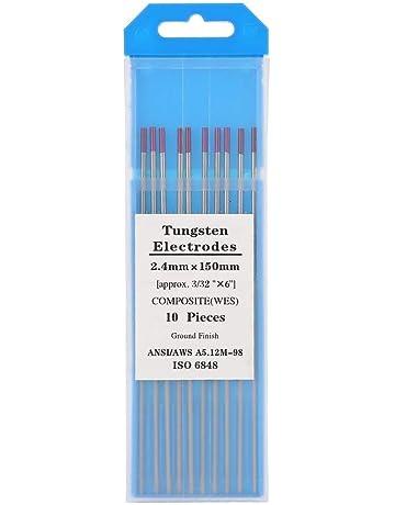 Tig Welding Composite Tungsten Electrodos 2.4 × 150 mm (WES púrpura), paquete de