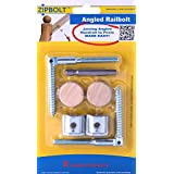 Zipbolt UT 11.560 Angled Railbolt – Connects Angled Staircase Handrail to Newel Post – 5 Blister Packs – Includes 5mm Hex Bit with Quick Release Shank