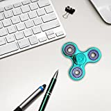 Zip Spinners- Fidget Spinner Toy with Ultra Speed Deep Groove Bearings- Autism Toys Best Boredom Reducer Stress Toy Hand Spinner Fidget Toy for Kids & Adults (Shellac Cyan)