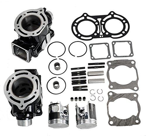 Yamaha Banshee Cylinders (Max Motosports Cylinder Piston Rings Gaskets Kit Set for Yamaha Banshee 350 YFZ350 1987-2006)