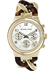 Michael Kors Womens MK4222 Chain Watch Gold/Tortoise
