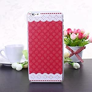 PG Classic Dot and Lace Pattern Litchi Texture Plastic Hard Case for iPhone 6 Plus