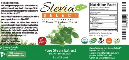 Stevia Select Stevia Powder-Organic Stevia-100% Pure Stevia Extract-No Fillers-1 Oz Stevia from the Sweet Leaf-Perfect Weight Loss Diet Aid-Natural Sweetener-Great Tasting Stevia Guarantee! by Stevia Select (Image #3)