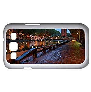Saint Martin Canal, Paris France - Watercolor style - Case Cover For Samsung Galaxy S3 i9300 (White)