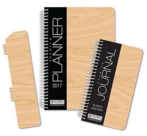 HARDCOVER Fashion Daily Planner Set - Includes 14 Month 2017 Calendar Year (5.5