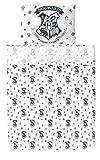 Hogwarts School Crest and Alchemy Symbols Twin Bedding Set with Bonus 2nd Pillowcase