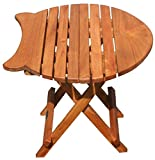 Teak Folding Fish Table made by Chic Teak and from A Grade Teak Wood