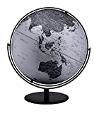 Ore International MS-217M23 World Globe, Black/Silver