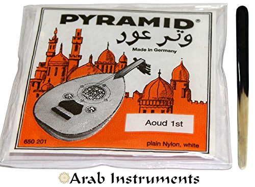 Pyramid String Set (11 strings) + First Class Cow Horn Oud Reeshe / Plectrum / Pick (One Plectrum) Arab Instruments Pyr-7219