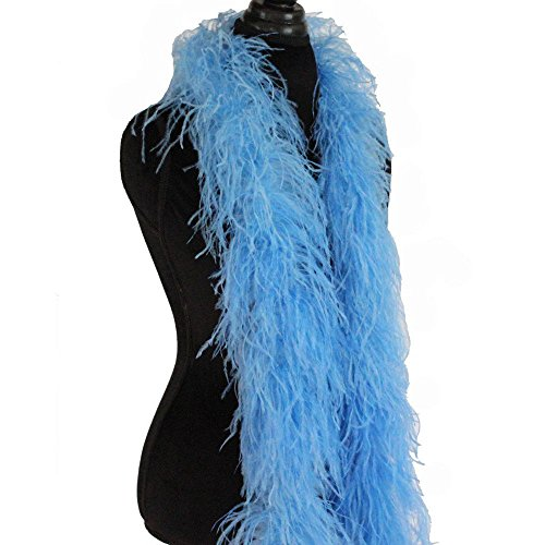 hsn_cth Periwinkle 3ply Ostrich Feather Boa Scarf Prom
