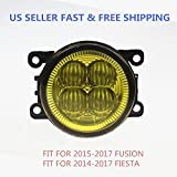 3000K YELLOW LED FOG LIGHT REPLACEMENT FOR 14-17 FORD FUSION FIESTA H11 MODEL US