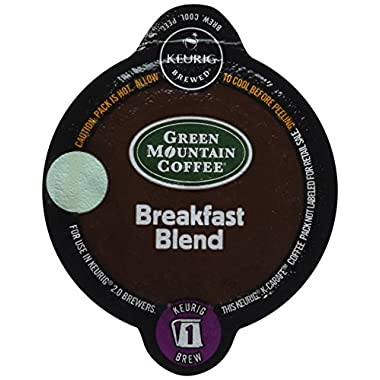 Keurig 2.0 Green Mountain Coffee Breakfast Blend K-carafe Packs (8)