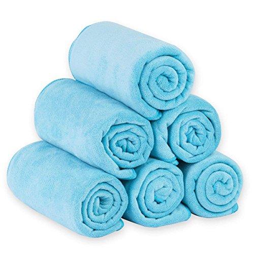 JML Microfiber Bath Towels, Bath Towel Set (6 Pack, 27