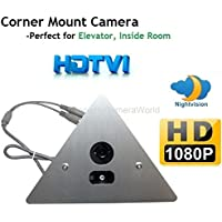 1080P HDTVI IR Corner Mount Security Corner Triangle Camera 2.8mm Wide angle Lens 1080P, ONLY WORK WITH HD-TVI DVR