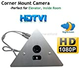 1080P HDTVI IR Corner Mount Security Corner Triangle Camera 2.8mm Wide angle Lens 1080P, ONLY WORK WITH HD-TVI DVR