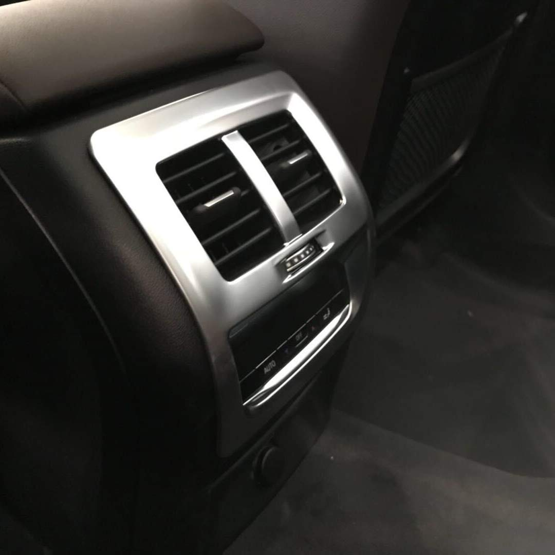 Beautost Fit For BMW New X3 2018 2019 Rear Seat Air Vent Outlet Cover Trim Matte