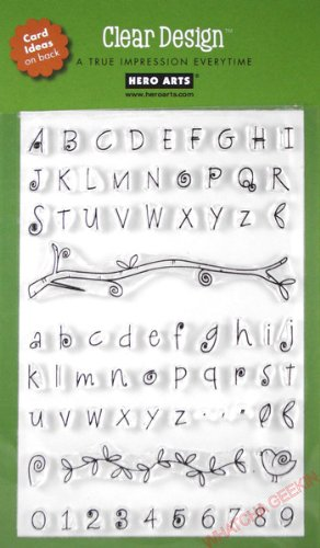 Hero Arts Fanciful Swirl Alphabet Stamp Set, - Alphabet Stamp Rubber Clear