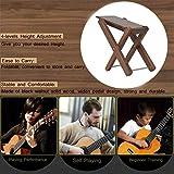 Guitar Footstool Black Walnut Solid Wood Guitar