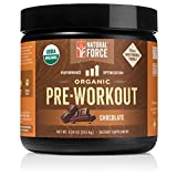 Organic Pre Workout – Chocolate *Best Preworkout Powder for Energy and Focus* Creatine Free Natural Supplement to Burn Fat and Build Muscle. Gluten Free, Non-GMO by Natural Force, 8.24 Ounce
