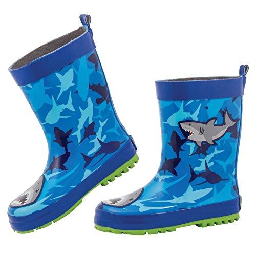 (Stephen Joseph Boys' Rain Boots, Shark, 12)