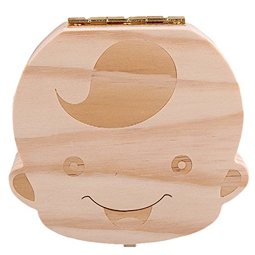 Kids Tooth Box Organizer Baby Save Milk Teeth Wood Storage Box For Boy - RoseSummer RoseSummer