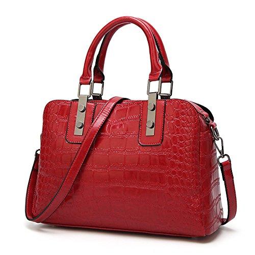 américaine bandoulière à Bag Zm Motif 2018 Ladies Simple sacs et Bag Bag de européenne Nouveaux mode Red YUSPq