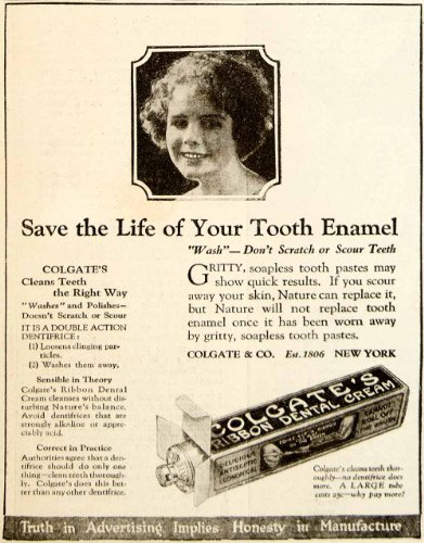 1922 Ad Colgate Ribbon Dental Cream Toothpaste Health Beauty Oral Hygiene Teeth - Original Print Ad from PeriodPaper LLC-Collectible Original Print Archive